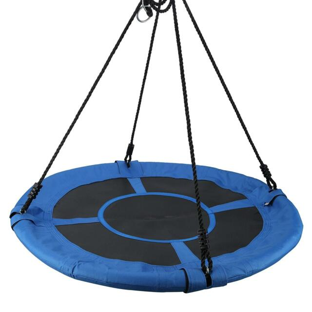 400lbs Flying Giant Rope Swing,40'' Multi-Color Saucer Rotate Tree Nest Swing