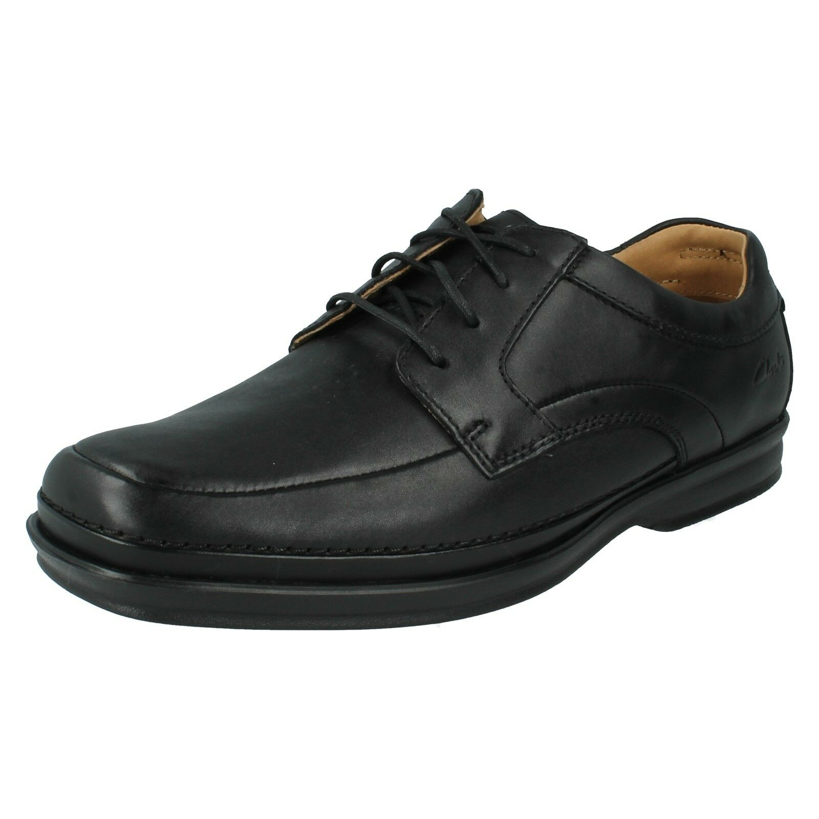 Herren CLARKS LEATHER ACTIVE AIR WIDE CASUAL SMART LACE SIZE UP Schuhe SCOPIC WAY SIZE LACE 073760