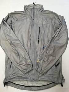Mens-MOUNTAIN-HARDWEAR-Gray-Z-Weld-Rain-Jacket-Sz-M-Waterproof