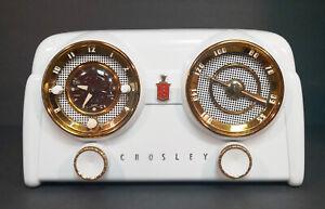 Old Antique Bakelite Crosley Vintage Tube Radio - Restored Working D25 Dashboard