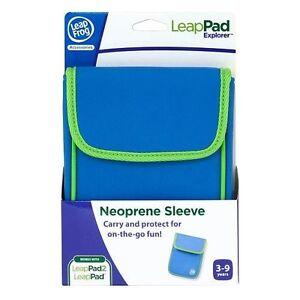 LeapPad-or-LeapPad-2-Explorer-Neoprene-Sleeve-Blue-and-Green-NEW
