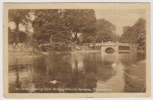 Gloucestershire-postcard-The-Lake-showing-East-Bridge-Cheltenham-P-U-A261