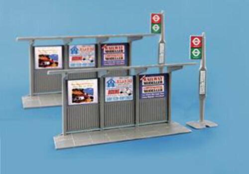 Modelscene 5007 OO Gauge Bus Stop /& Shelter