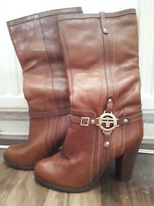 Length Calf Boots Heeled River Brown Island 8wqTtUFW