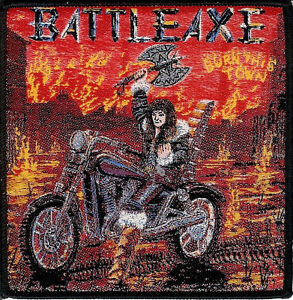 Battleaxe-Burn-Patch-NWOBHM-Saxon-Iron-Maiden-Accept-Grim-Reaper-Bullet-Savage