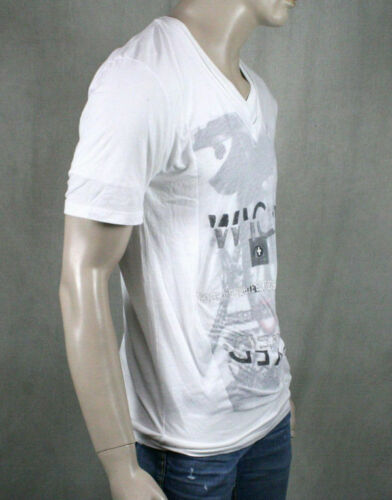 Second Sunday Men/'s WICKED 2ply white layered T-shirt S902-04-01