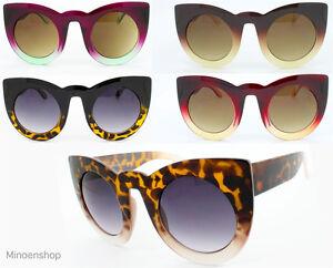 Mujer-Grande-Ojos-De-Gato-Redondo-Lentes-039-LOBOS-039-Gafas-Sol-VTG-RETRO-ANOS-80