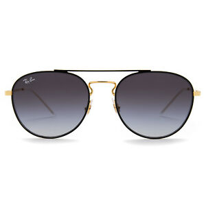 Ray-Ban-RB3589-Square-Sunglasses-58-mm-Black-and-Gold-Frame