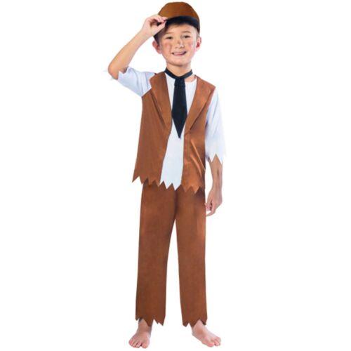 Victorian Boy Historical Tudor Servant Boys Kids Childs Fancy Dress Costume