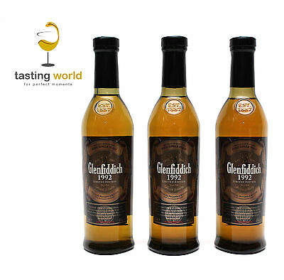 RARITÄT 3 x Glenfiddich 1992 Toasted American Oak - Limited Edition 200ml! RARE