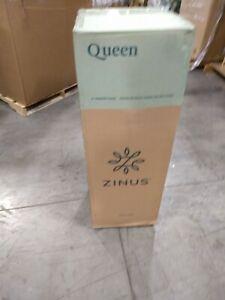 Zinus Memory Foam 6 Inch Green Tea Mattress, Queen, White ...
