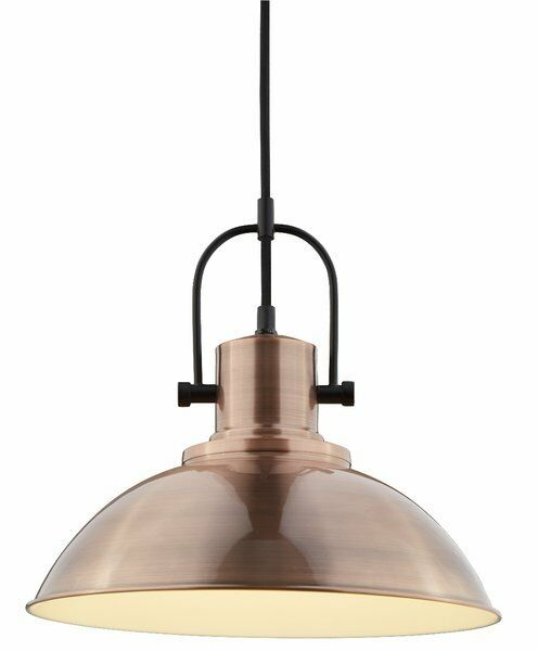 The Lighting Collection Antique Copper Pendant Light
