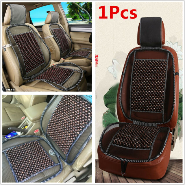 100 Cooling Natural Wood Beads Car Seat Cushion Pad Home Chair Mesh Mat Cover