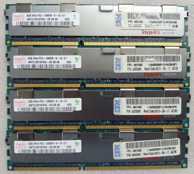✅Barrettes Mémoire Serveur Hynix DDR3 8Gb 10600R 1333Mhz