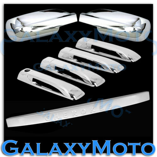 Chrome Mirror+4 Door Handle+Tailgate Cover for 05-10 JEEP GRAND CHEROKEE