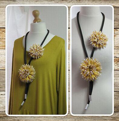 * NEW Large Tibetan Silver Flower Necklace Lagenlook
