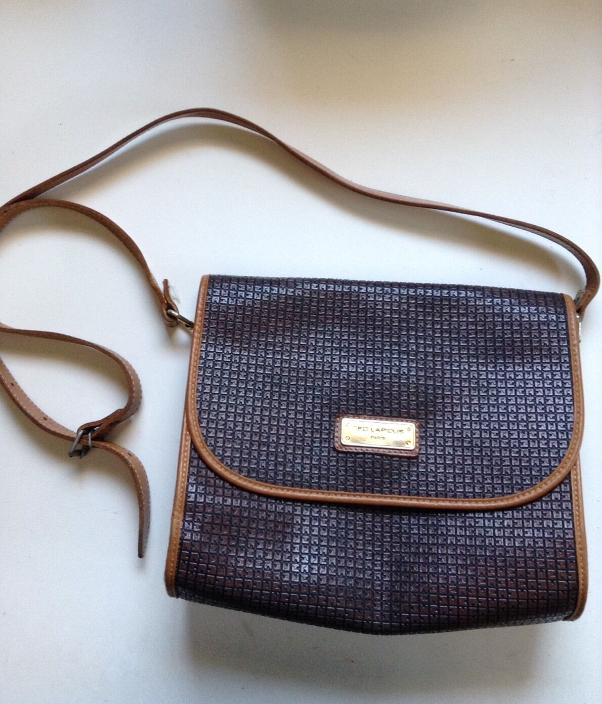TED LAPIDUS logo messenger bag/ purse