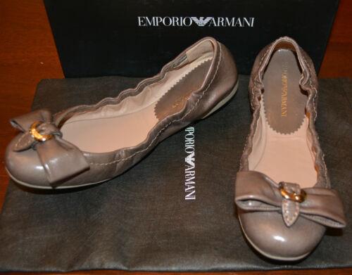 Nib Armani Us 6 Flats 37 Sz 445 Shoes Eu Leather 5 Emporio RR5pqxr
