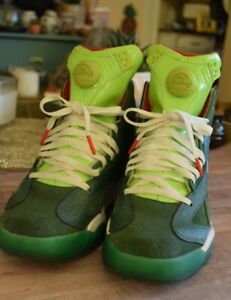 5f828ec2e6 Details about Reebok Men's The Pump Shaq Attack Green White High Top  Sneaker Made in China 9
