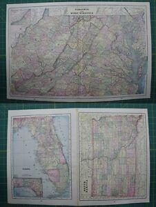 Virginia wva florida south dakota vintage original 1895 crams world image is loading virginia wva florida south dakota vintage original 1895 gumiabroncs Image collections