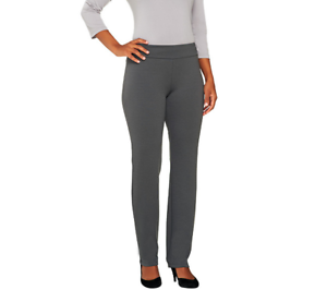 Women With Control Petite Pull On Slim Leg Pants Size S Winter White Color