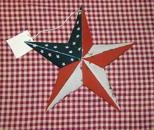 Rustic-Primitive-RUSTY-Tin-8-034-Distressed-AMERICANA-Barn-Star-Country-Farmhouse
