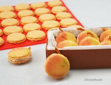 Red de doble cara para hornear macarones Macaroon De Silicona Para Hornear Mat Molde Molde hace Dos Tamaños