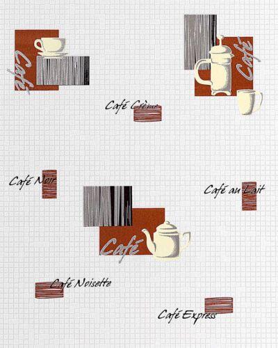 Résultat 062-20 Papier peint café bistrot-Motifs Pierres De Mosaïque Mosaïque BLANC MILK-Marron