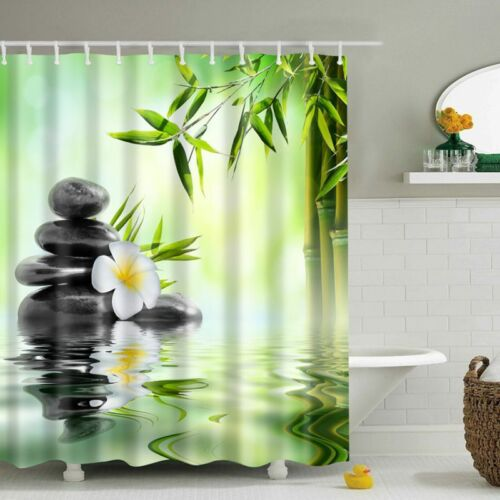 3D Print Fabric Shower Curtain Waterproof Cover Curtain For Home Bathroom