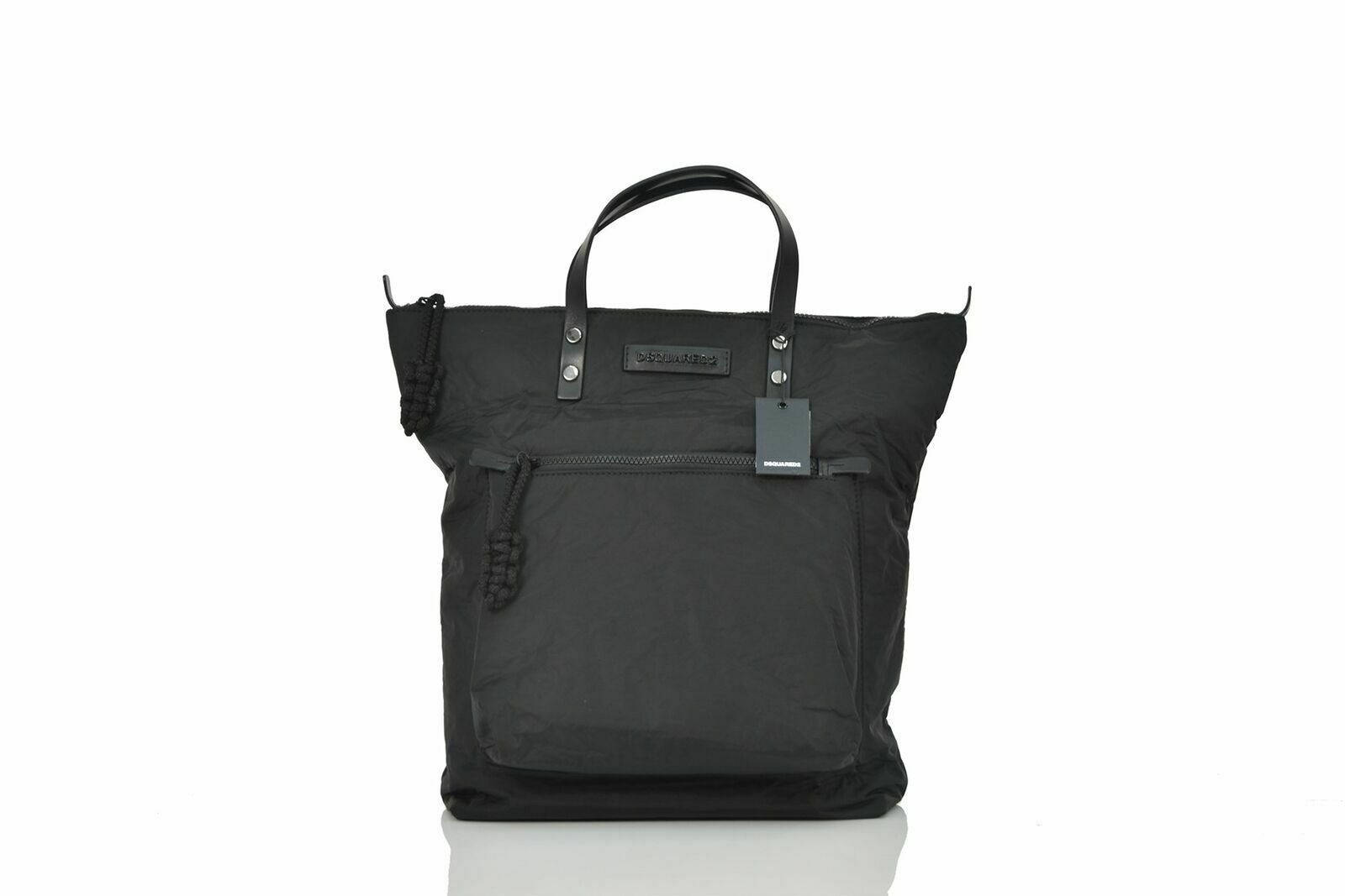 Dsquared2 Shopping Bag Man Black Leather Handles Mod. W16SP1004117M084