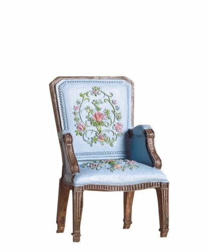 Dolls House Emporium Miniatura 1//12th escala Bonito Azul George III silla 5744