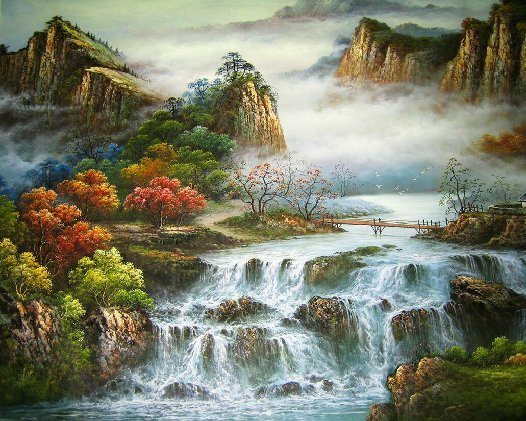 3D Mountains River Scenery Wall Wall Wall Paper Print Decal Wall Deco Indoor wall Mural f04d67