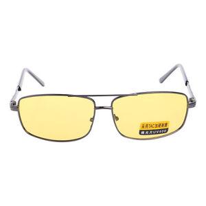 New Yellow Sunglasses Lens Polarized Night Vision Driving UV 400 Eyewear Glasses 664255260253