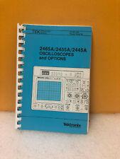 2455B 2445B Oscilloscope Operators Manual Tektronix 070-6860-00 2465B