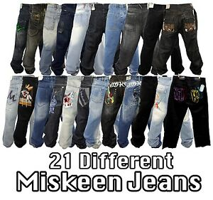 NEW-AUTHENTIC-MEN-039-S-21-DIFFERENT-DESIGNS-OF-MISKEEN-JEANS-SIZE-36-UP-TO-44