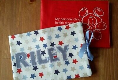 Personalised Handmade Baby Health Record Book Cover for the Red NHS Baby Book