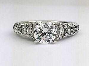 8624163ad Scott Kay Luminaire 14K White Gold Round Diamond Engagement Ring ...