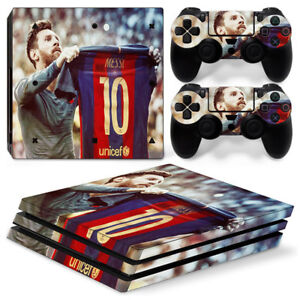 Barcelona Messi For playstation PS4 PRO Console Stickers & 2 Controllers Skin