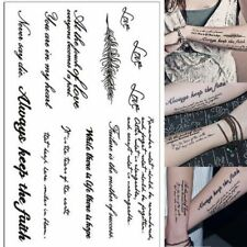 Heart Mind English Words Waterproof Temporary Tattoo Transfer Sticker Body Art For Sale Online Ebay