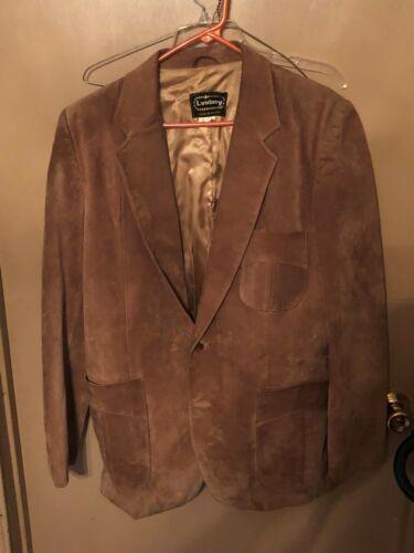L.virany L 42 Sports Coat Blazer Brown Suede Singl