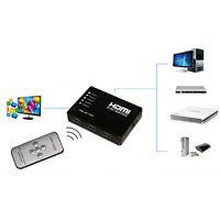 5 Port 1080P Video HDMI Switch Switcher Splitter for HDTV DVD PS3+ IR Remote HUU