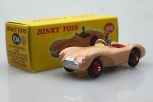 Atlas-104-Orange-Dinky-toys-1-43-Aston-Martin-DB3S-Sport-alloy-car-models