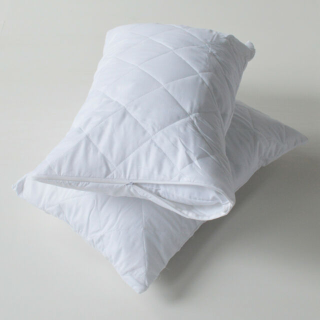 Zipped Quilted Pillow Protectors - Pack of Four (4)