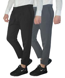 Pantalone-Uomo-Chino-Elegante-slim-fit-Casual-Tasche-America-Grigio