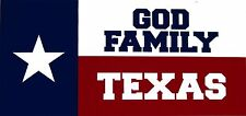 Wholesale Lot of 6 God Family Texas Lone Star State Decal Bumper Sticker