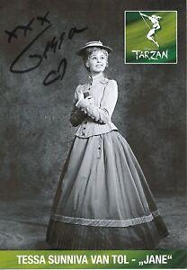 Tessa Sunniva van Tol   Jane   Tarzan  Musical  Autogrammkarte signiert 350676