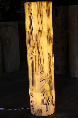 Modern Onyx Natural Stone Floor Lamp Hand Carved Onyx Pedestal 50