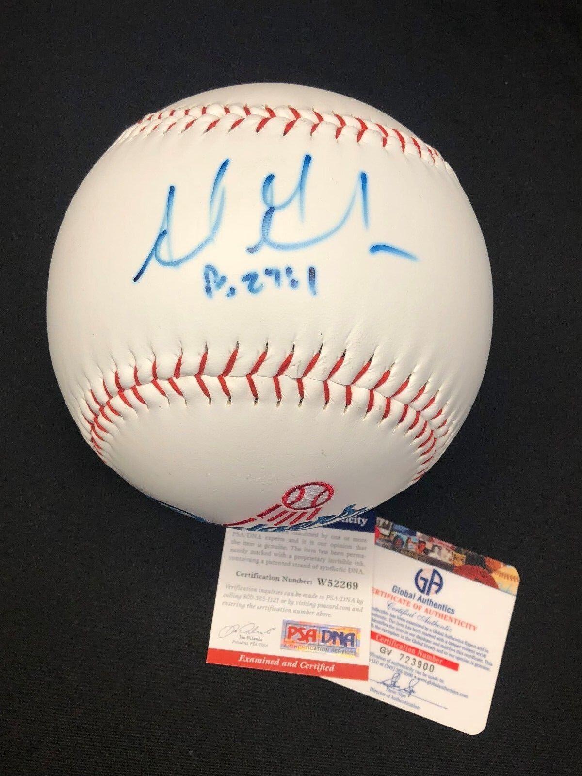 Adrian Gonzalez Signed Oversized Dodgers Rawlings Baseball PSA W52269