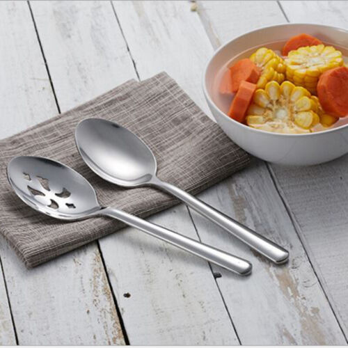 Slotted Serving Spoon Serving Conlander Stainless Steel Large Kitchen Utensils W