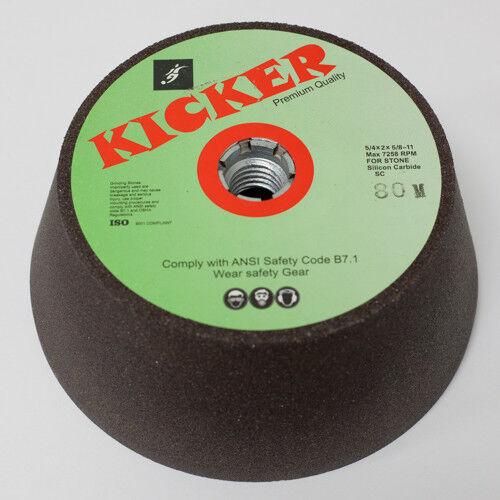 "NEW Kicker Premium Quality Silicone Carbide Grinding Wheel  5//4/"" x 2/"" 80 Grit"
